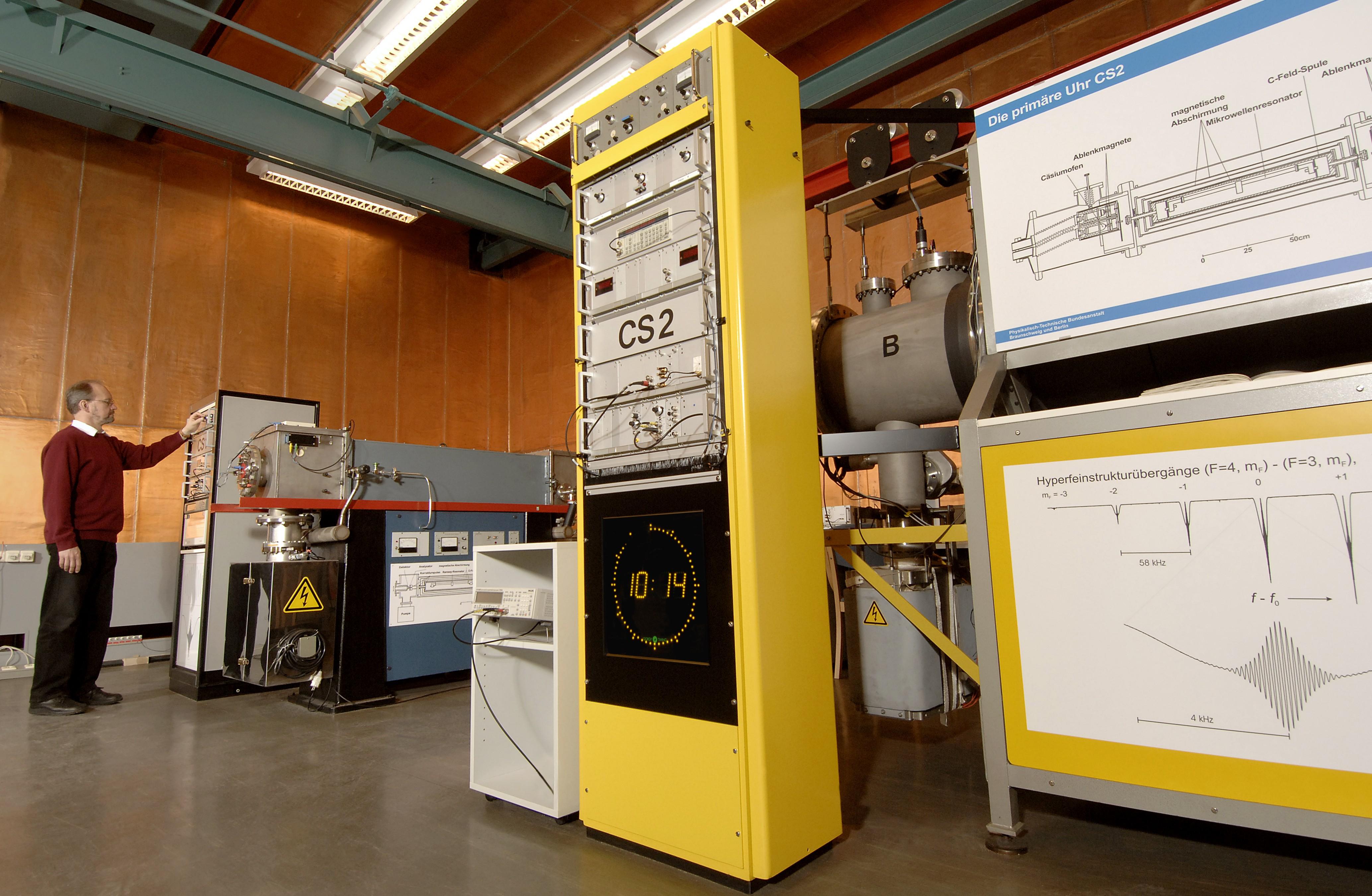 Primary atom clocks CS1 and CS2 of PTB - PTB.de